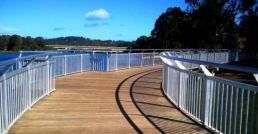composite decking sunshine coast walkway blue sky