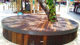 iron bark decking timber south Brisbane seat