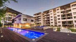 Merbau Decking South Brisbane- hotel pool deck