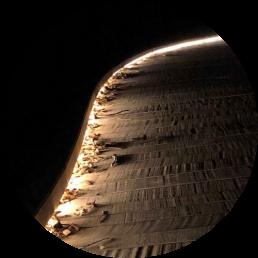 composite decking - noosa boardwalk at night