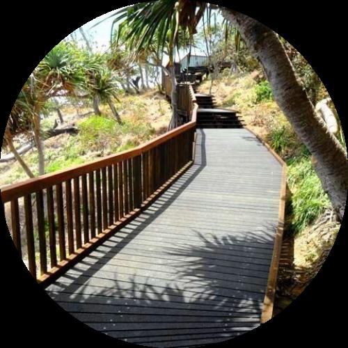 Timber Yard Sunshine Coast - boardwalk fencing