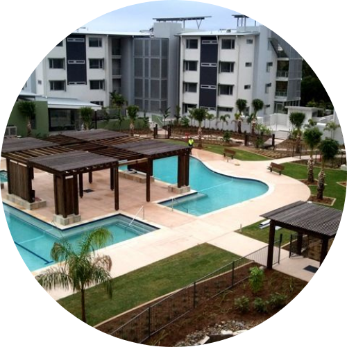 structural pine south brisbane - hotel pool area
