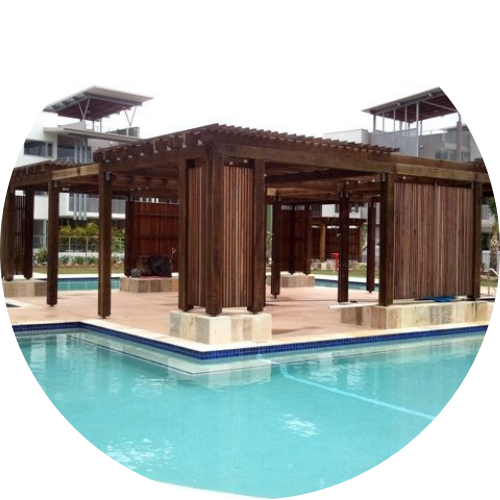 structural pine south brisbane- wooden pool patio