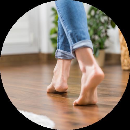 Composite Decking TImber - feet on floor
