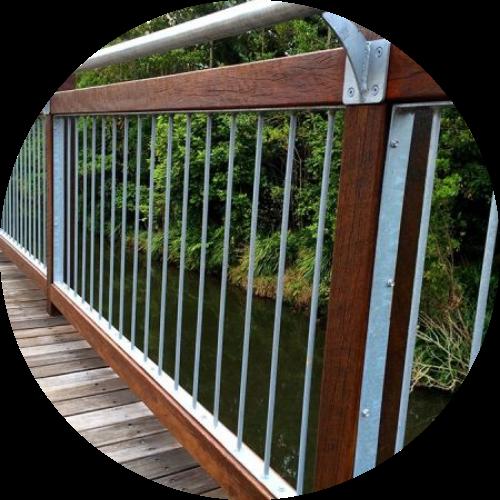 Merbau Timber - timber railing
