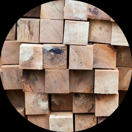 Timber Supplies Brisbane - closeup of timber poles