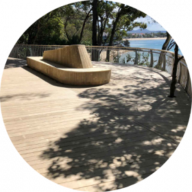 Timber Sunshine Coast - noosa deck and seat