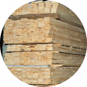 timber sleepers - stacked wood
